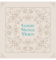Vintage ornament border frame decoration vector image