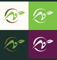circle green people logo vector image