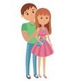 Couple younger man and woman hugging vector image