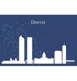 Denver city skyline on blue background vector image