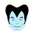 dracula sleeps emoji vampire dream emotion face vector image