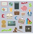 Finance stickers vector image