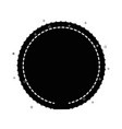 isolated round icon vector image