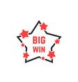 linear star icon like big win badge vector image