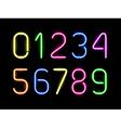 neon numbers vector image