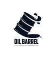 oil fuel barrel oil drop simple flat icon vector image