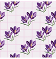 Seamless pattern for design with spring flowers vector image