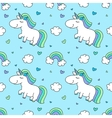 baby seamless pattern with unicorns vector image vector image