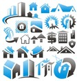 Set of house icons symbols and signs vector image