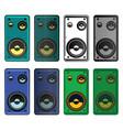speakers mini set vector image