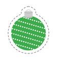 christmas green ball decorative vector image
