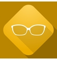 Icon of Sunglasses with a long shadow vector image