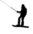 Silhouette of Snowboarder vector image