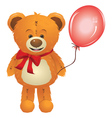 Teddy Bear with Red Bow3 vector image