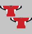 Hockey jersey template vector image