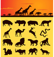 african animal silhouettes vector image