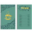 Coffee menu hand 1 vector image