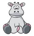 Cute Hippo vector image