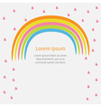 Rainbow and pink heart rain with text Flat design vector image
