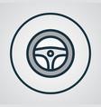 steering wheel colorful outline symbol premium vector image