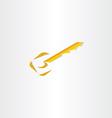 stylized key icon design vector image