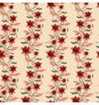 Vintage floral seamless background vector image