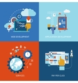 Web and application development vector image