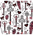Romantic seamless pattern Valentine day vector image