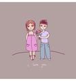 a a boy and a girl vector image vector image