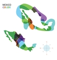 Abstract color map of Mexico vector image