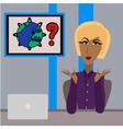 anchorwoman vector image
