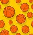 Basketball seamless pattern Sports accessory vector image