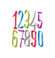 Calligraphic numbers numeration vector image