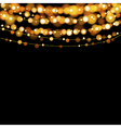 Christmas lights design elements background vector image