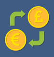 Currency exchange Euro and Pound Sterling vector image