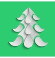 Green christmas background with paper Christmas vector image