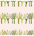 Hand Drawn Trees Seamless Pattern vector image