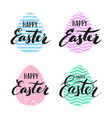 happy easter lettering for sticker vector image