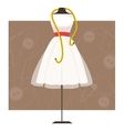 Mannequin with dress vector image
