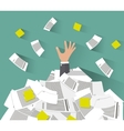 Overwork concept flat style vector image