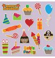 party stickers vector image