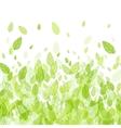 Seamless strip green border vector image