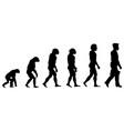 Silhouette progress man evolution vector image