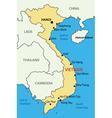 Socialist Republic of Vietnam - map vector image