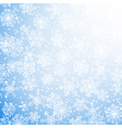 winter sun with snowflakes vector image