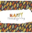 Happy Thanksgiving greeting card design Logo and vector image vector image