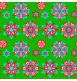 Ethnic Christmas seamless pattern vector image