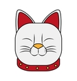 Isolated china cat design vector image