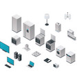 isometric appliances set vector image vector image