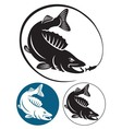 Bass fish vector image vector image